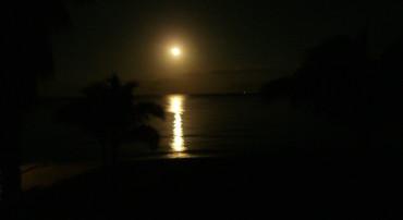 Moonset Over Cozumel
